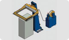 2901 Flejadora automática horizontal con dispensador de cantoneras