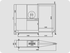 2100 Flejadora Automática lateral con lanza telescópica